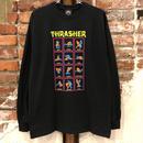 THRASHER BLACK LIGHT L/S TEE-BLACK