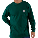CARHARTT  LONG SLEEVE WORKWEAR POCKET T-SHIRT-Hunter Green