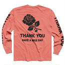 CHINA TOWN MARKET THANK YOU L/S SHIRT (SALMON)