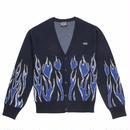 LIFE'S A BEACH LAB Flames Cardigan-Blue