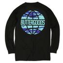 BUTTER GOODS EXPRESS WORLDWIDE L/S TEE BLACK