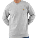 CARHARTT  LONG SLEEVE WORKWEAR POCKET T-SHIRT-Heather Gray