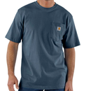 CARHARTT WORKWEAR POCKET T-SHIRT-Blue Stone