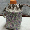 350mlペットボトルホルダー パープル花柄