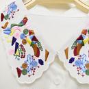 ■ こっくりカラーのお花畑刺繍デザイン付け襟【No.0148】
