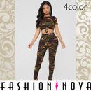 【Fashion Nova】4color カモフラージュクイーンラウンジセット