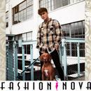 即納【Fashion Nova】チェック柄長袖ネルシャツ