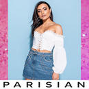 【取り寄せ】【Parisian】ラインストーンデニムミニスカート