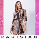 【即納】【Parisian】バロックプリントシャツワンピース