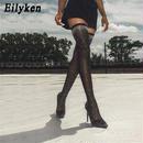 【Eilyken】ビジュ付きオーバーニーソックスブーツ