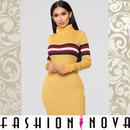 【Fashion Nova】タートルネックセーターボディコンミニワンピース