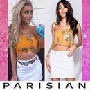 【取り寄せ】【Parisian】カットオフホワイトデニムミニスカート