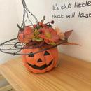 ハロウィンの帽子風アレンジ