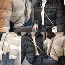 ツィード中綿ジャケット