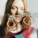 silverring&wood pierce