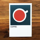 "WRITE&DRAW.  ORIGINAL GRAPHIC CARD ""COFFEE"""