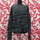 Pon Pon Knit < Black_White Stitch / Black_Black Stitch >