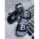 Silver belt sandal