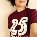 25years around Tシャツ   /   BURGUNDY