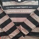 Commitments(先約)Tシャツ (チャコール×ブラックボーダー)