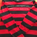 Commitments(先約)Tシャツ (レッド×ブラックボーダー)