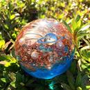 青いオルゴナイト「地球のかけら」