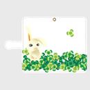 ウサギ柄No3・手帳型スマホケース