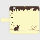 ウサギ 手帳型スマホケース