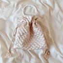 Quilting Purse Bag    Pinkbeige -受注生産-
