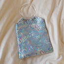 Chinoiserie Handbag -Gray-