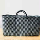 Cilantron / nylon mercado bag  / black / silver / シラントロン / 横長メルカドバッグ