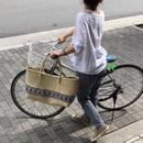 pips /  palm leaf basket tote bag pattern / ピップス/ パームリーフバスケットバッグ/ パターンブルー