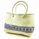 pips palm leaf basket tote bag pattern / ピップス/ パームリーフバスケットバッグ