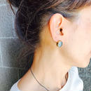 ishi jewelry / earring sencillo aquamarine/ イシ ジュエリー / ブラス片耳ピアス /アクアマリン