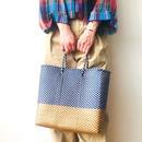 Cilantron / nylon mercado bag  /navy / gold  / シラントロン / メルカドバッグ