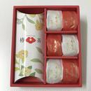お祝いごとに!【カメリアセレクト】「紅白かもめの玉子と椿茶」お菓子とお茶の詰め合わせギフト