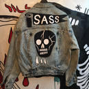 Black Skull—Denim Jacket