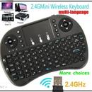 2.4GHzワイヤレスミニQWERTYキーボードマウスタッチパッド付きPC用スマートTV PS4 HTPC