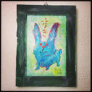 ST053ウサギの絵「すき」左藤芳美