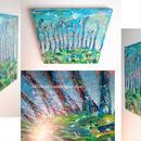 恐竜の絵「森の匂い」左藤芳美 ST013