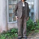 ウールコットン グレンチェックジャケット<18303-JK/BEIGE>