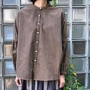 27W マイクロシャツコール スタンドシャツ<18308-SH / OLIVE>
