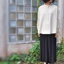 27W マイクロシャツコール スタンドシャツ<18308-SH / WHITE>