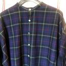 ツイルタータンチェック スタンドシャツ<18307-SH / NAVY>