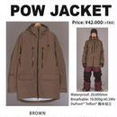 【中古品】SCAPE POW JACKET  BROWN / Lサイズ ウェアー スノーボード メンズ ジャケット