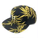 HUF HAMMERED METAL H BAMBOO STRAPBACK BLACK キャップ 帽子