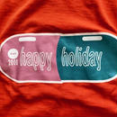 HAPPY HOLIDAY 2000 T-shirts   orange(dead stock)