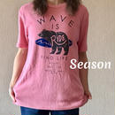SS新作★ユニセックス TシャツWAVE★ナノテック 両面パイル RIDE BEAR TEE/PINK