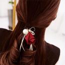 【上品なお花のヘアゴム】お花 フラワー リボン ブレスレット シュシュ 選べる2カラー