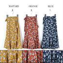 花柄フレアラップスカート